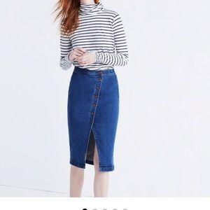 Madewell Midi Asymmetrical Denim Skirt